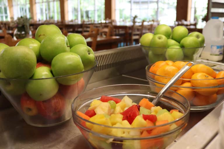 Fresh fruit at DCU Rooms Restaurant